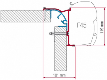 Fiamma F45 Awning Adapter Kit - Bailey MK 2